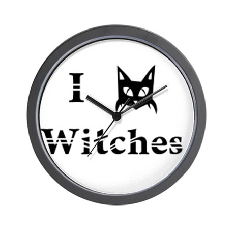 I Cat Witches Wall Clock