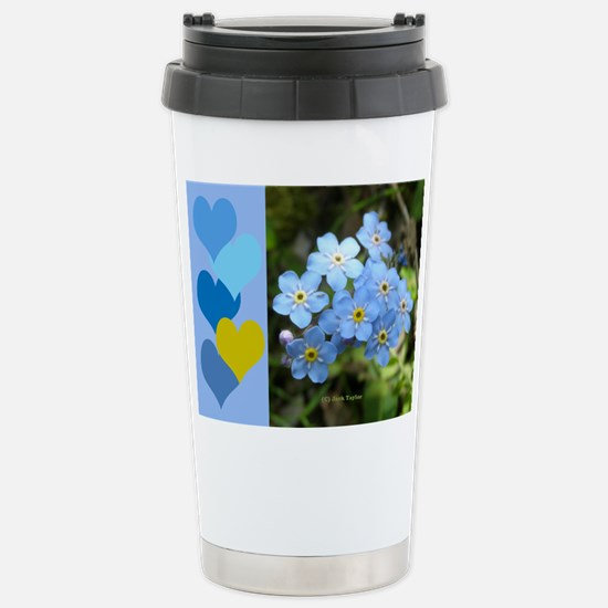 Forget-Me-Not Stainless Steel Travel Mug