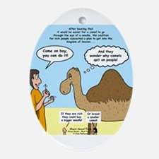 Camel Conundrum Ornament (Oval)