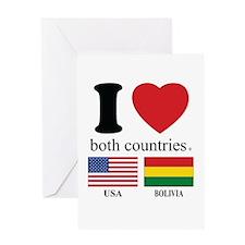 USA-BOLIVIA Greeting Card