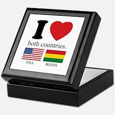 USA-BOLIVIA Keepsake Box