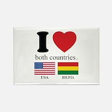 USA-BOLIVIA Rectangle Magnet
