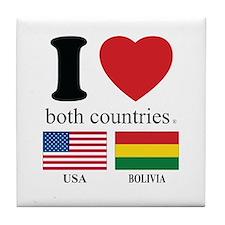 USA-BOLIVIA Tile Coaster