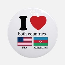 USA-AZERBAIJAN Ornament (Round)