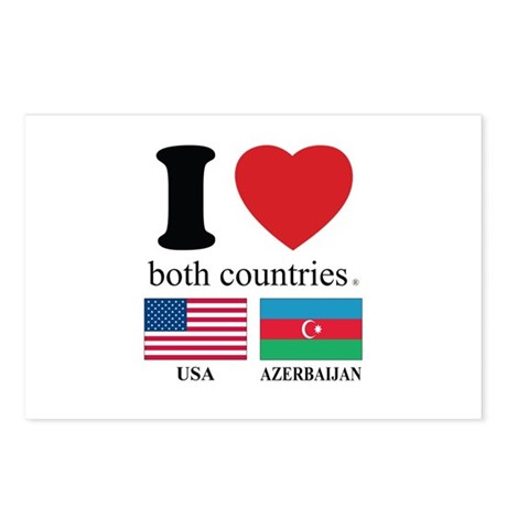 USA-AZERBAIJAN Postcards (Package of 8)