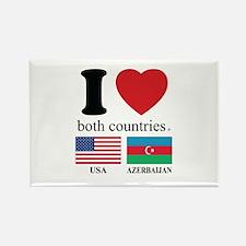 USA-AZERBAIJAN Rectangle Magnet
