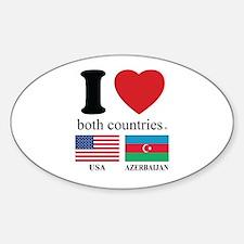 USA-AZERBAIJAN Decal