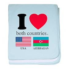 USA-AZERBAIJAN baby blanket
