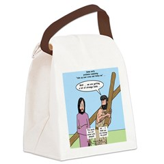 Cross-Carrying Confusion Canvas Lunch Bag