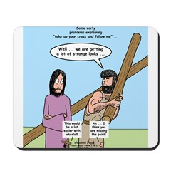 Cross-Carrying Confusion Mousepad