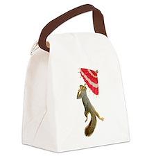 Squirrel Parasol Canvas Lunch Bag