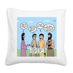 Rumor Mill Square Canvas Pillow