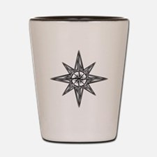 Tribal Compass Rose Shot Glass