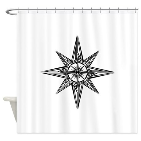 Tribal compass rose shower curtain by intrepiddesigns