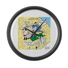 Rooftop Rescue Large Wall Clock