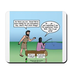 Fishing with Jesus Mousepad