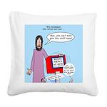 Good News Square Canvas Pillow