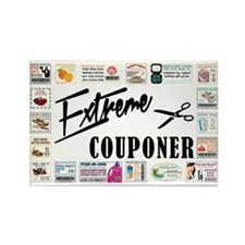 EXTREME COUPONER Rectangle Magnet
