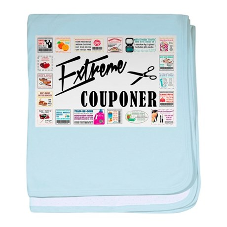 EXTREME COUPONER baby blanket