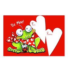 Be Mine Frog Kids Valentine Postcards (Package of