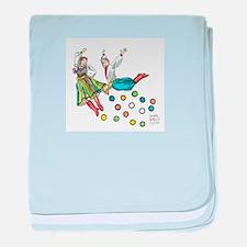polka dots baby blanket