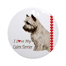 Love My Cairn Ornament (Round)