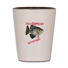 Crappie Day Shot Glass
