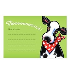 Moved Funny Cow New Address Postcards (Package of