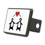 Penguin Hearts Rectangular Hitch Cover