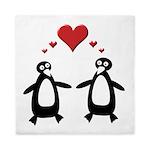 Penguin Hearts Queen Duvet