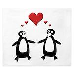 Penguin Hearts King Duvet