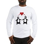 Penguin Hearts Long Sleeve T-Shirt