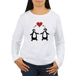 Penguin Hearts Women's Long Sleeve T-Shirt
