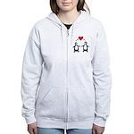 Penguin Hearts Women's Zip Hoodie