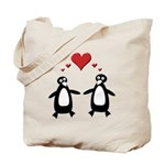 Penguin Hearts Tote Bag