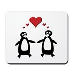 Penguin Hearts Mousepad