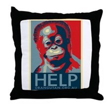 Help Orangutans Throw Pillow