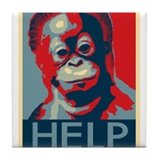 Help Orangutans Tile Coaster