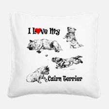 Love My Cairn Square Canvas Pillow