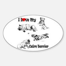 Love My Cairn Sticker (Oval)
