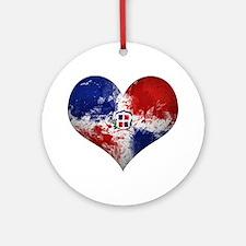 Dominican Heart Ornament (Round)