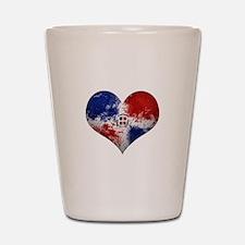Dominican Heart Shot Glass