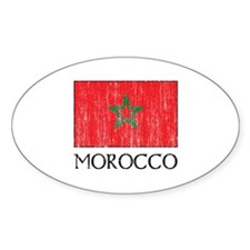 Morocco Flag Oval Decal