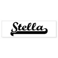 Black jersey: Stella Bumper Bumper Sticker