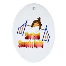 Shetland Sheepdog Agility Ornament (Oval)