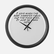 Cute Darn Large Wall Clock
