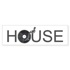 House Music Car Sticker