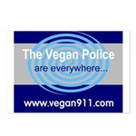 Vegan Police Postcards (Package of 8)