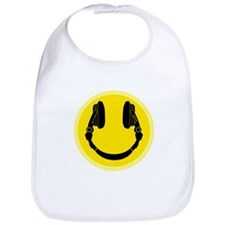 Headphone Smiley Face Bib