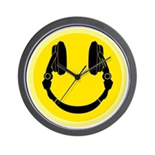 Headphone Smiley Face Wall Clock